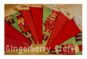red white and grey bunting