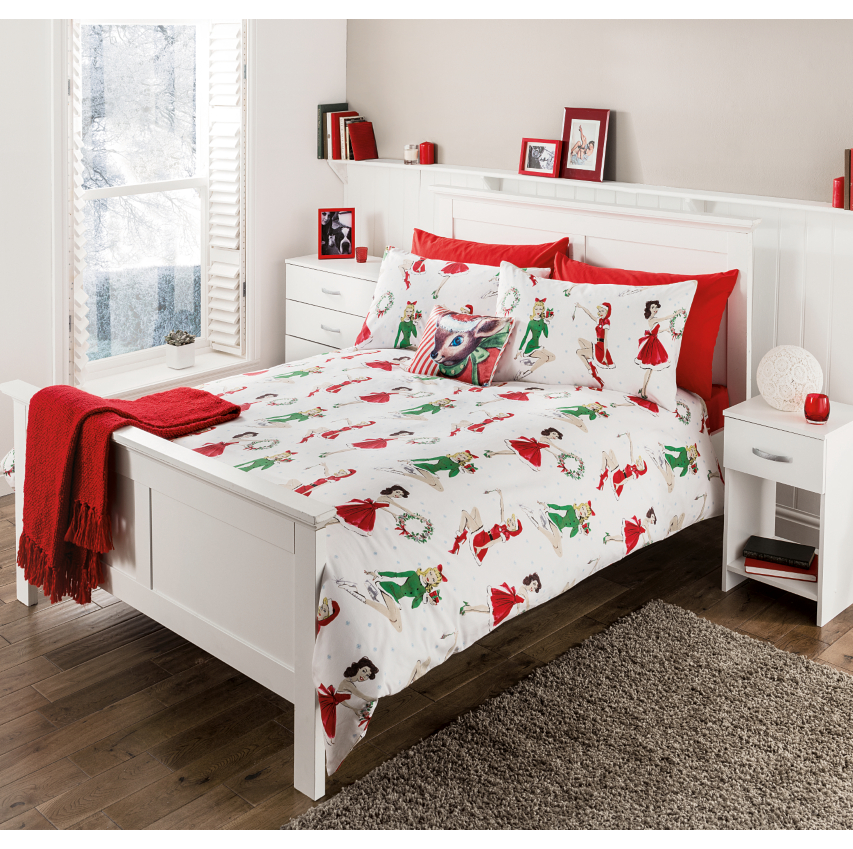 festive xmas santa cover sizes quilt kids new christmas duvet bed sets itm bedding