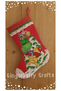 giveaway prize - Christmas Stocking - pooh bear